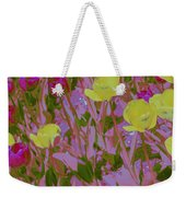 Pink And Yellow Tulips Pop Art Weekender Tote Bag
