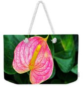 Pink Anthurium Weekender Tote Bag