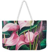 Pink Anthuriums Weekender Tote Bag