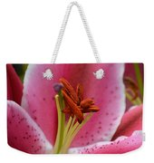 Pink Asiatic Abstract Weekender Tote Bag