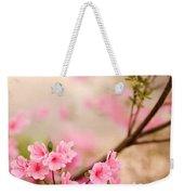 Pink Azalea Bush Weekender Tote Bag