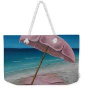 Pink Beach Umbrella Weekender Tote Bag