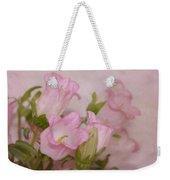 Pink Bell Flowers Weekender Tote Bag