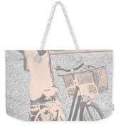 Pink Bike Weekender Tote Bag