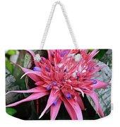 Pink Bromeliad Weekender Tote Bag
