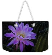 Pink Cactus Bloom  Weekender Tote Bag