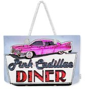Pink Cadillac Diner Weekender Tote Bag
