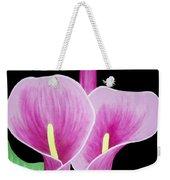Pink Calla Lilies 1 Weekender Tote Bag