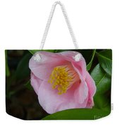 Pink Camellia About To Bloom Weekender Tote Bag