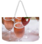Pink Champagne And Strawberry Weekender Tote Bag