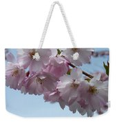 Pink Cherry Blossom Weekender Tote Bag