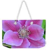 Pink Clematis Beauty Weekender Tote Bag
