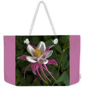 Pink Columbine Flower Weekender Tote Bag