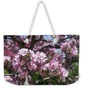 Pink Crabapple Weekender Tote Bag