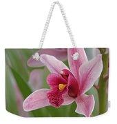 Pink Cymbidium Orchid Weekender Tote Bag