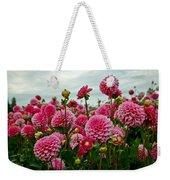 Pink Dahlia Field Weekender Tote Bag