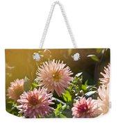 Pink Dahlia Garden Weekender Tote Bag