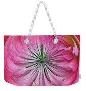 Pink Dahlia Orb Weekender Tote Bag