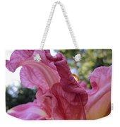 Pink Daylily Petal Weekender Tote Bag