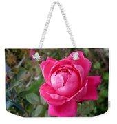Pink Double Rose Weekender Tote Bag