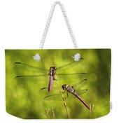 Pink Dragonflies Weekender Tote Bag