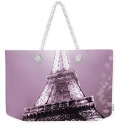 Pink Eiffel Tower Paris Weekender Tote Bag