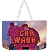 Pink Elephant Car Wash Weekender Tote Bag