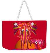 Pink Elephants Weekender Tote Bag