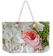 Pink English Rose Among White Roses Art Prints Weekender Tote Bag