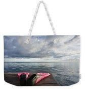 Pink Fins On Dock Weekender Tote Bag