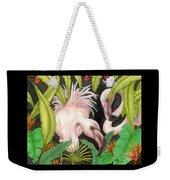Pink Flamingos Jungle Cathy Peek Tropical Bird Art Weekender Tote Bag