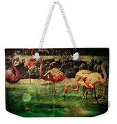 Pink Flamingos - Shangri-la Weekender Tote Bag