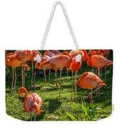 Pink Flamingos Weekender Tote Bag