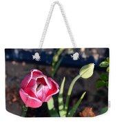 Pink Flower And Bud Weekender Tote Bag