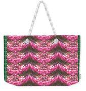 Pink Flower Petal Based Crystal Beads In Sync Wave Pattern Weekender Tote Bag