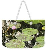 One Pink Water Lily With Lily Pads Weekender Tote Bag