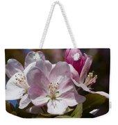 Pink Flowering Crabapple Blossoms Weekender Tote Bag