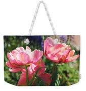 Pink Fluffy Tulips Weekender Tote Bag
