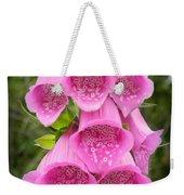 Pink Foxglove Weekender Tote Bag