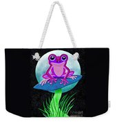 Pink Frog And Blue Moon Weekender Tote Bag