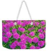 Pink Garden Flowers Weekender Tote Bag