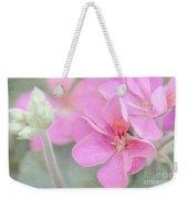 Pink Geraniums Weekender Tote Bag