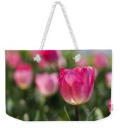 Pink Glowing Tulip Weekender Tote Bag
