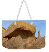 Pink Granite Lighthouse Weekender Tote Bag