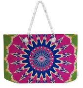 Pink Green Blue Abstract Weekender Tote Bag