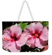 Pink Hibiscus Blooms Weekender Tote Bag