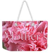 Pink Hollyhock Mother's Day Card Weekender Tote Bag