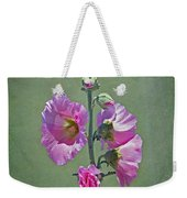 Pink Hollyhocks Weekender Tote Bag