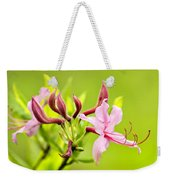 Pink Honeysuckle Flowers Weekender Tote Bag