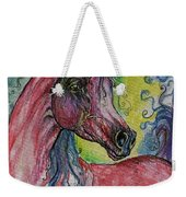 Pink Horse With Blue Mane Weekender Tote Bag